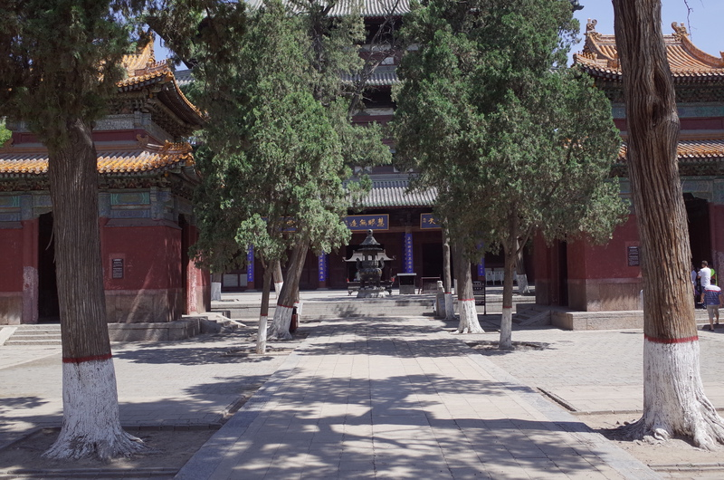 The yard in front of Main Hall of Longxing Temple